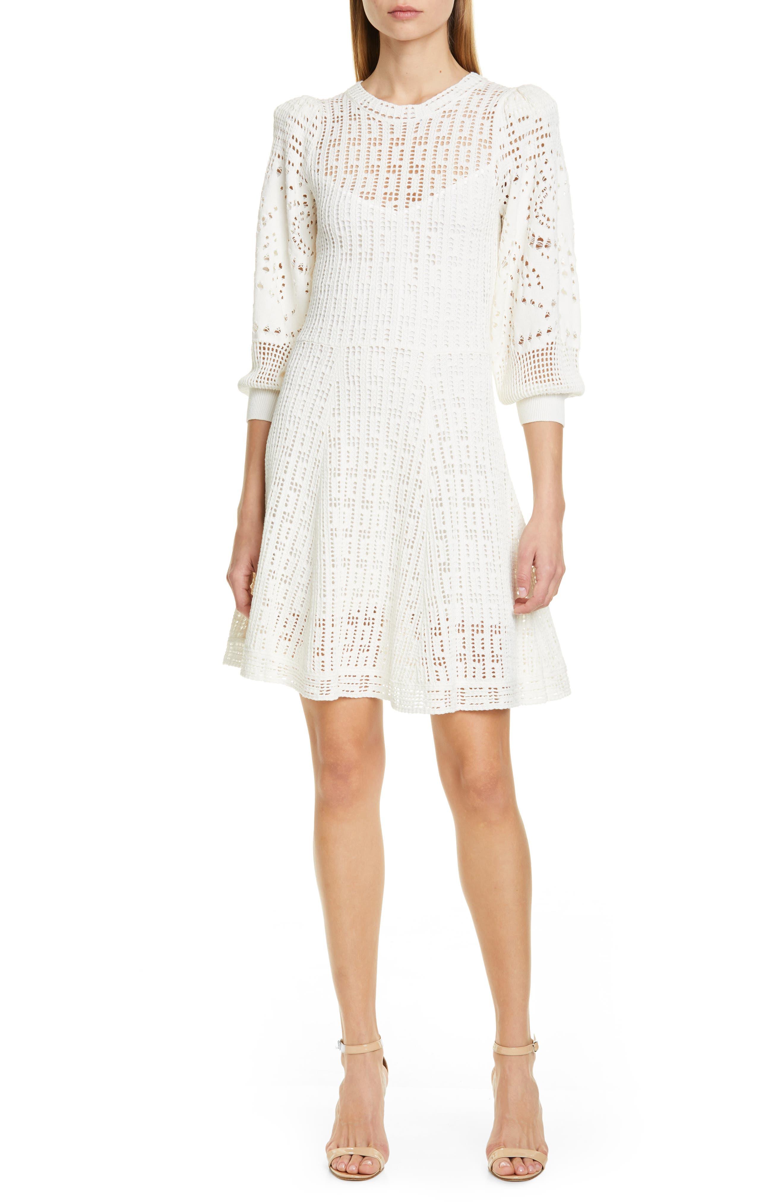 A.l.c. Sofia Fit & Flare Sweaterdress, White