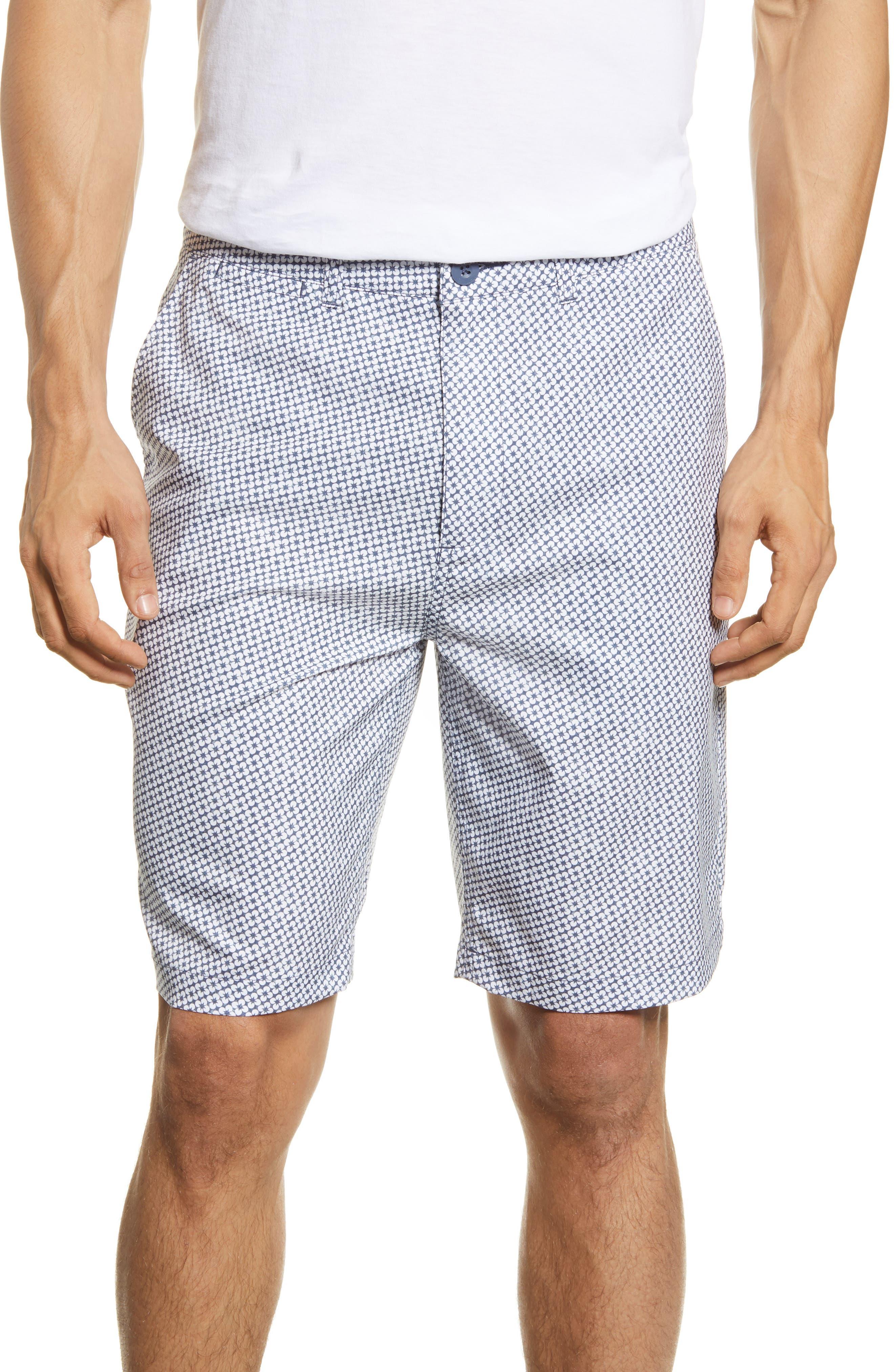 Czervik Floral Flat Front Shorts