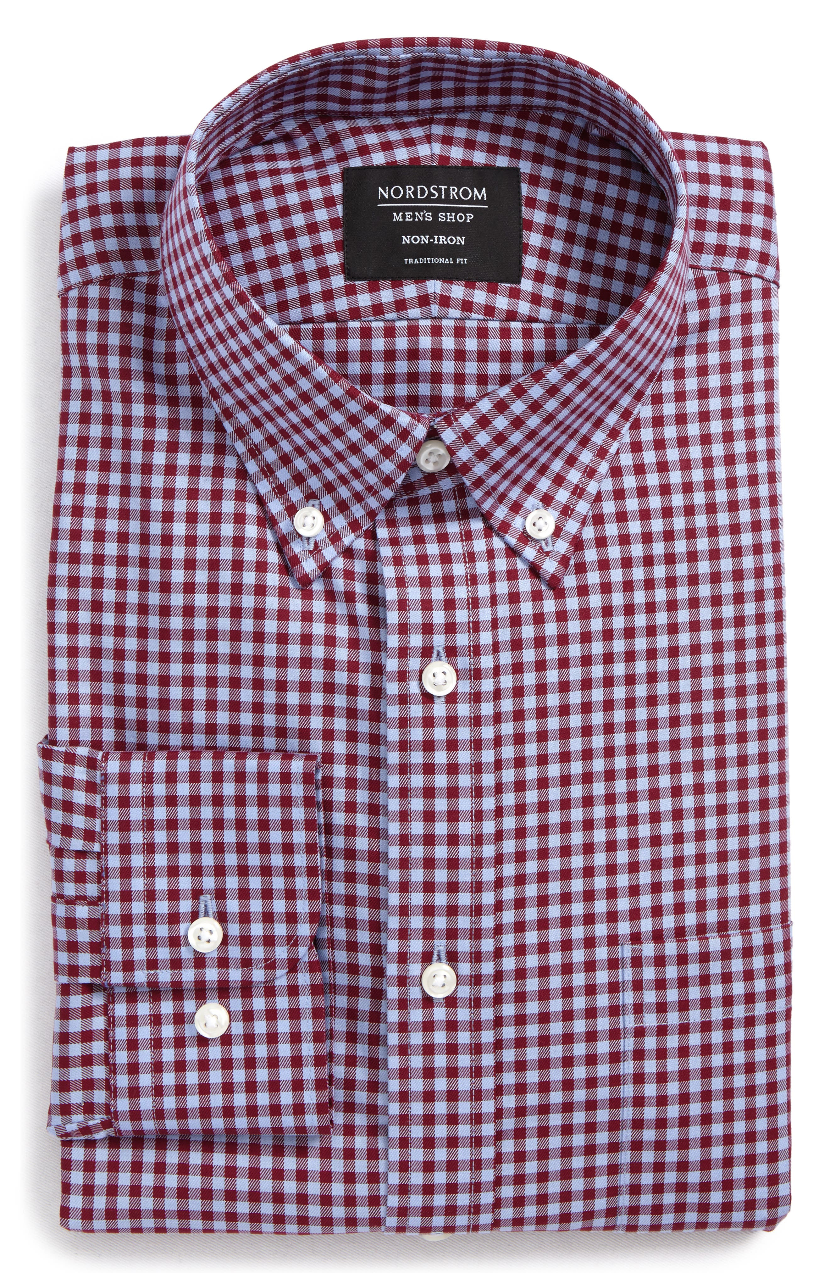 ,                             Traditional Fit Non-Iron Gingham Dress Shirt,                             Main thumbnail 25, color,                             601
