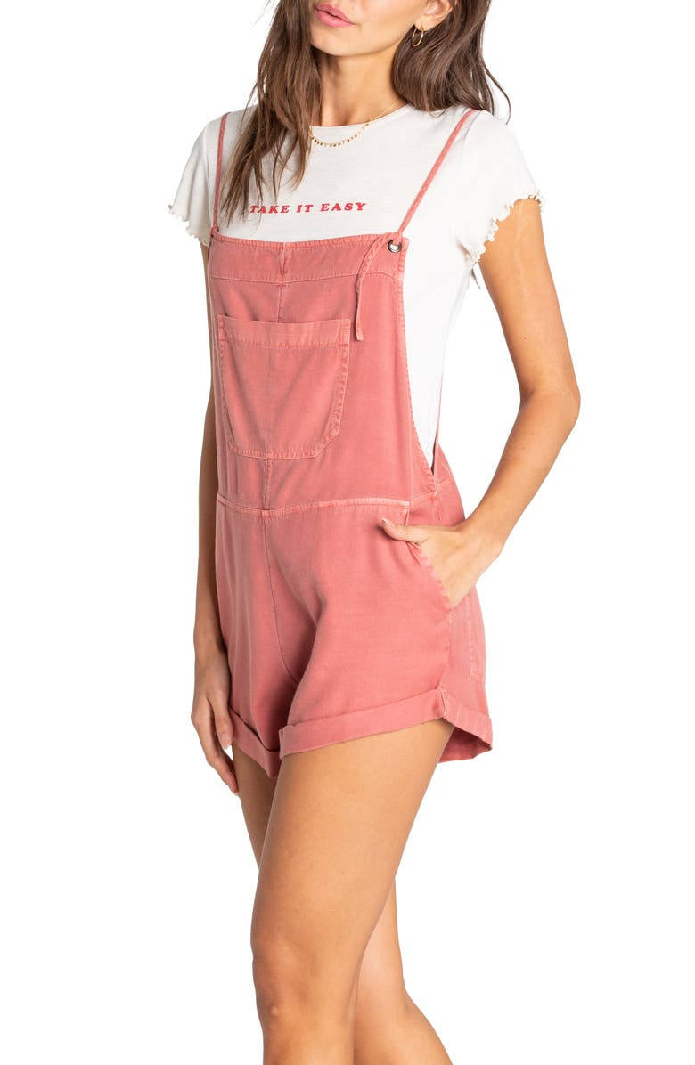 BILLABONG Wild Pursuit Overalls, Main, color, RED CLAY
