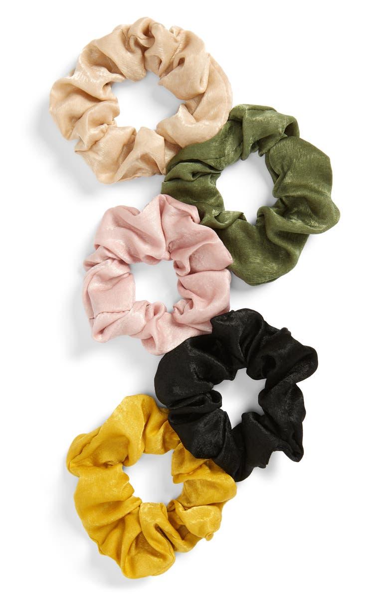 BP. 5-Pack Satin Scrunchie Set, Main, color, 000