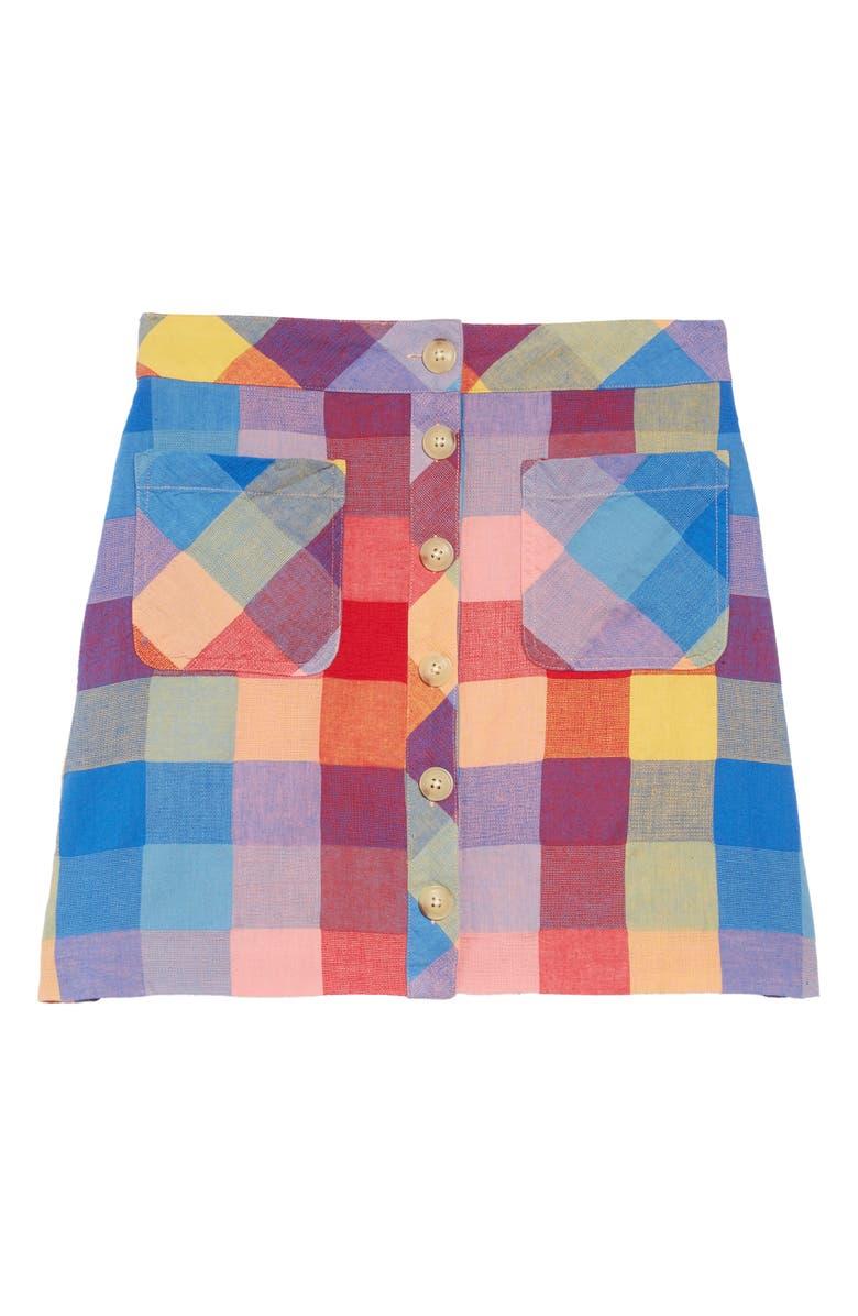 MADEWELL Rainbow Check Patch Pocket Miniskirt, Main, color, AMERICANA RED PICNIC PLAID