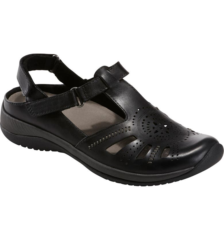 EARTH<SUP>®</SUP> Curie Sandal, Main, color, BLACK LEATHER