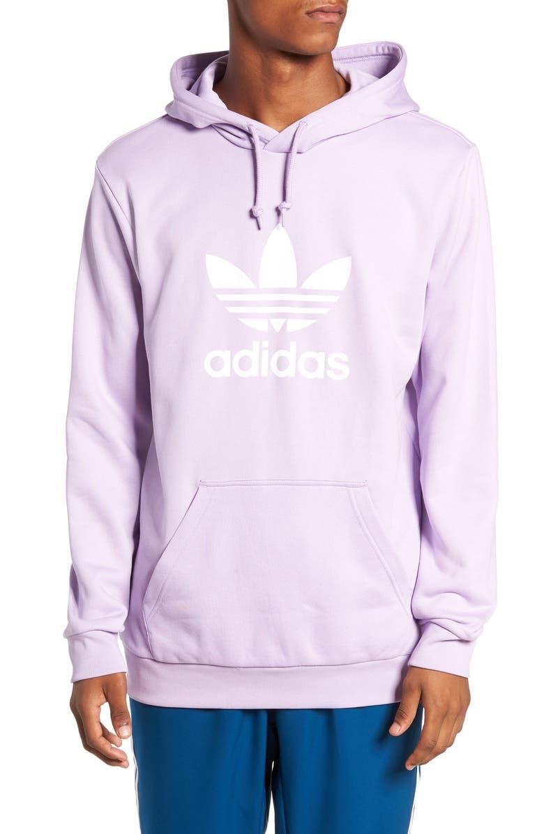 ADIDAS ORIGINALS Trefoil Sweatshirt, Main, color, PURPLE GLOW