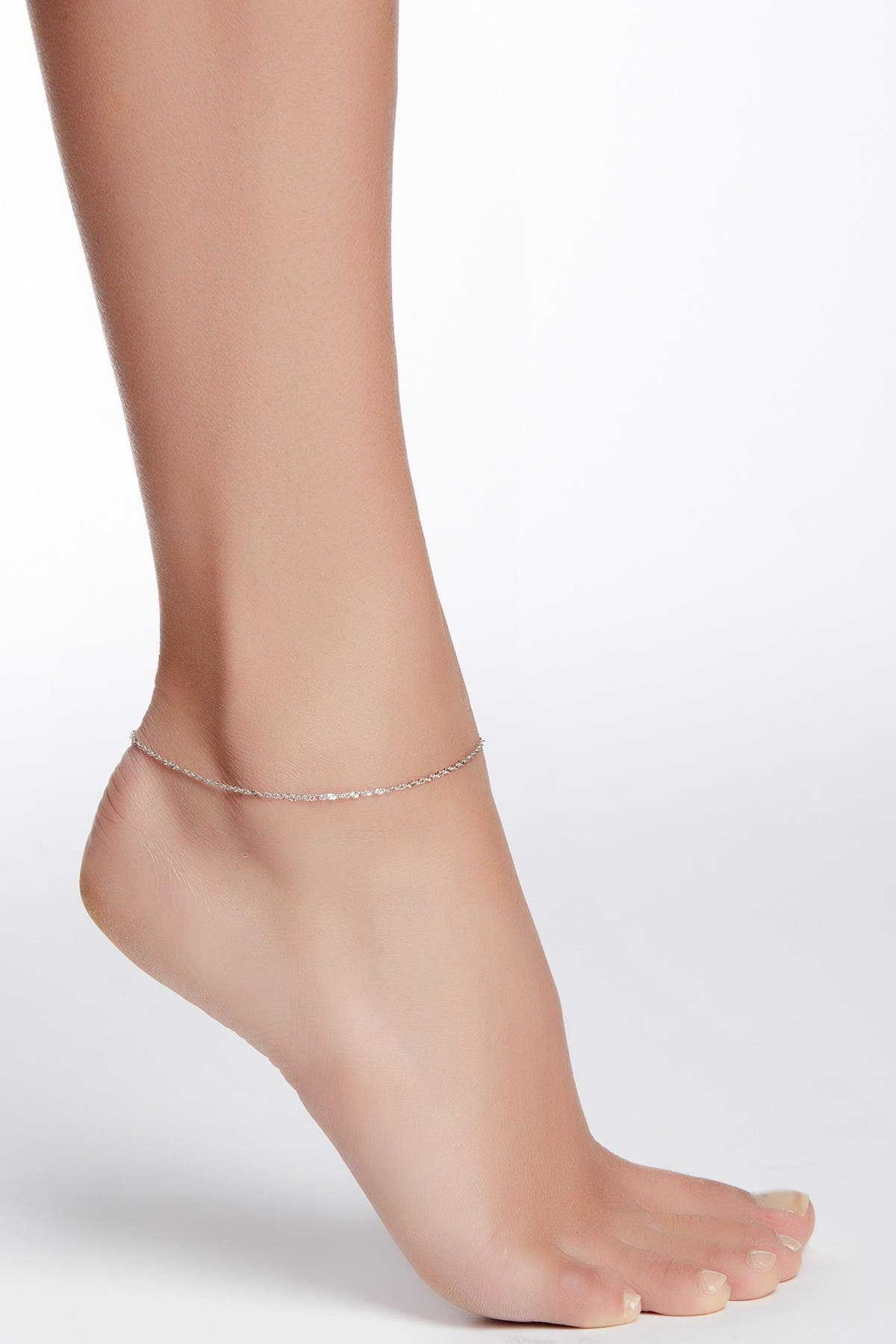 Image of KARAT RUSH 14K White Gold Chain Anklet