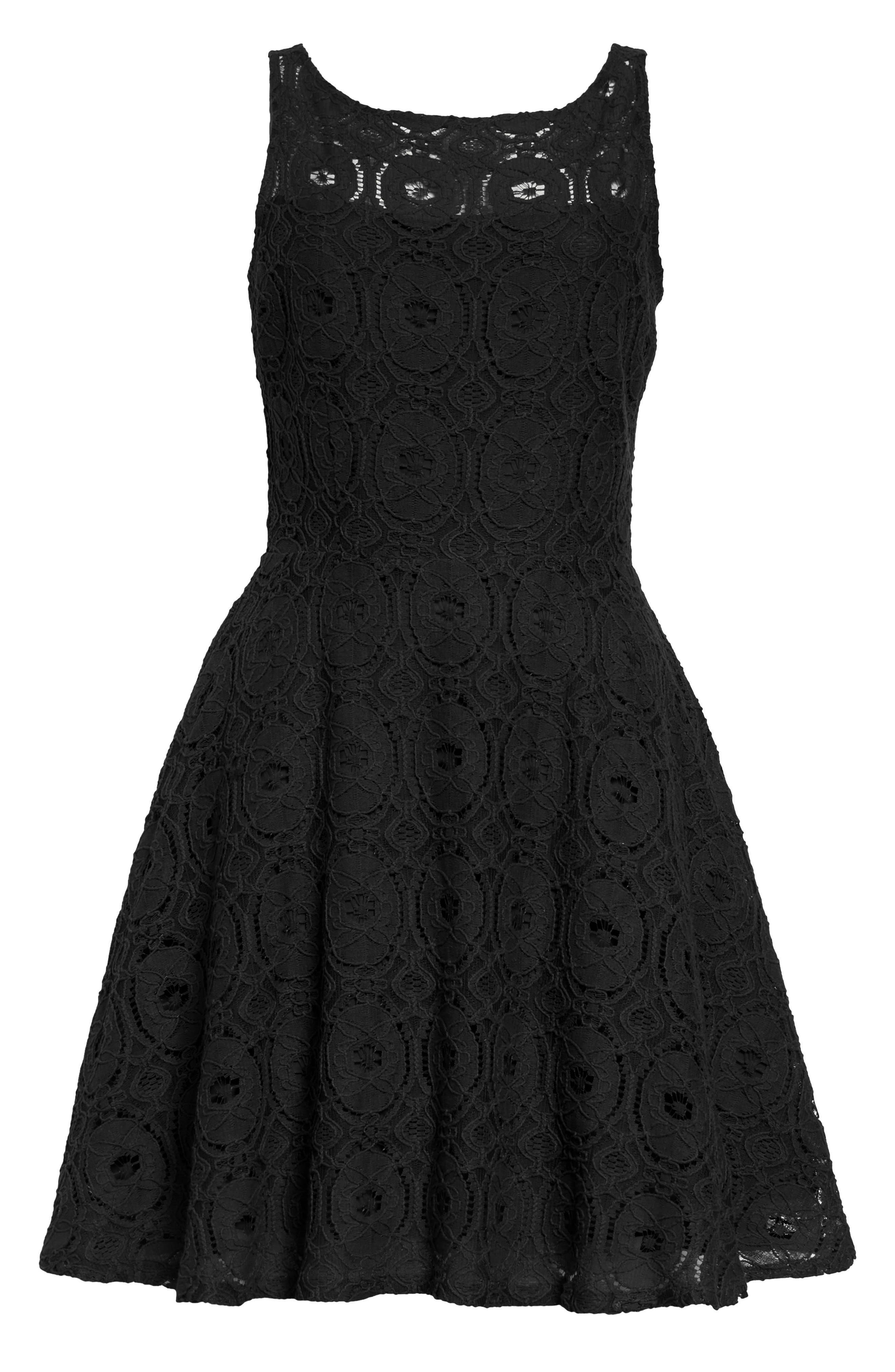 Bb Dakota Renley Lace Fit & Flare Dress, Size - (Nordstrom Exclusive)
