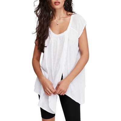 Free People Keep It Casual Tee, White