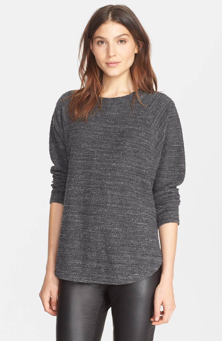 VINCE Textured Terry Raglan Sleeve Pullover, Main, color, 008