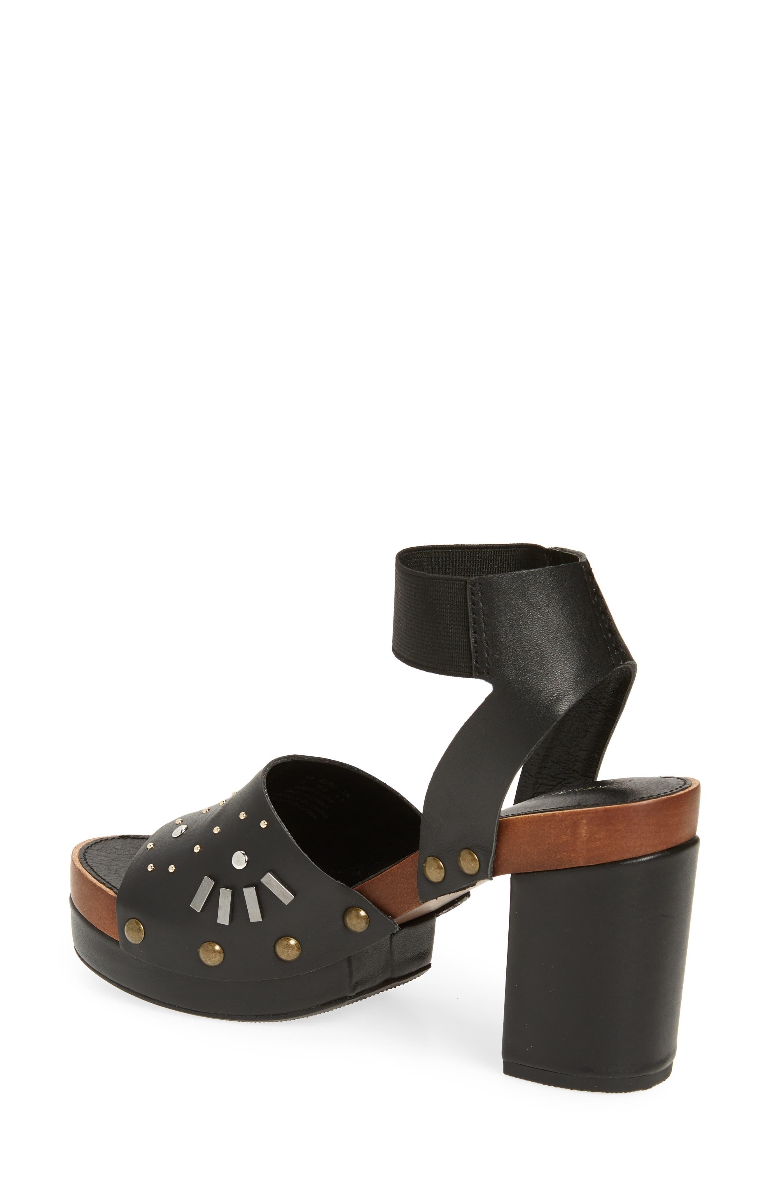 ,                             Frida Studded Platform Sandal,                             Alternate thumbnail 2, color,                             BLACK