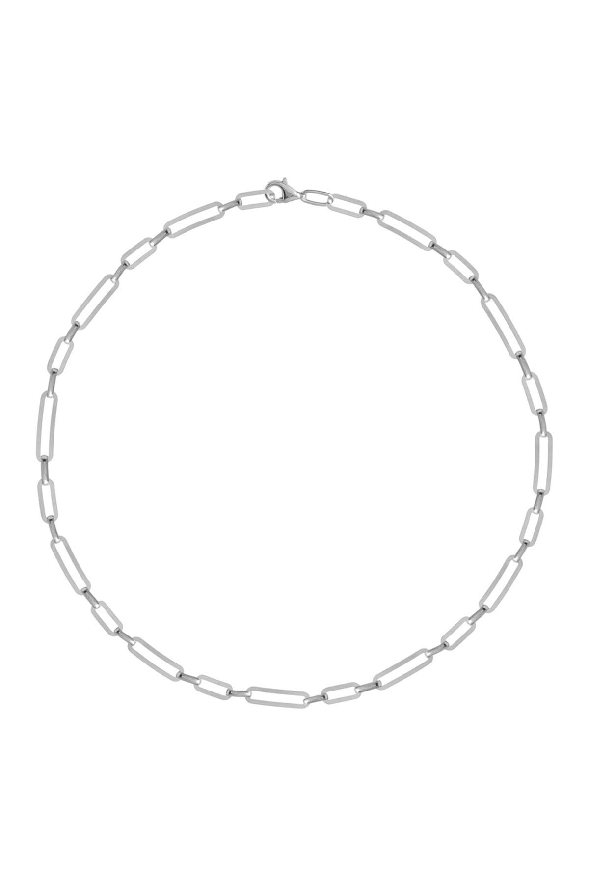 Image of Gabi Rielle Sterling Silver Box Chain Choker Necklace