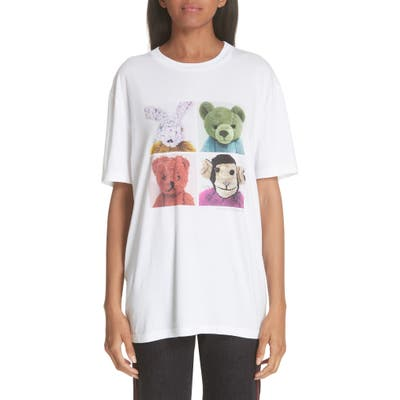 Stella Mccartney Stuffed Animal Graphic Tee, US / 40 IT - White