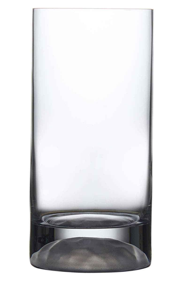 NUDE Club Ice Set of 4 Medium Highball Glasses, Main, color, CLEAR