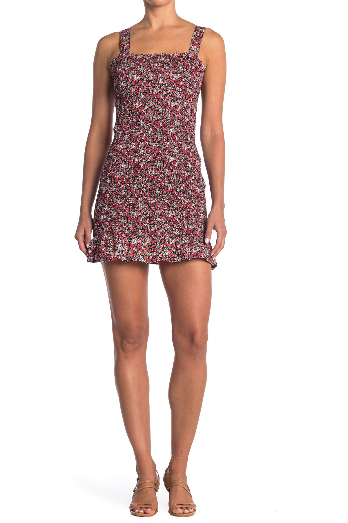 Image of Do + Be Floral Smocked Mini Dress