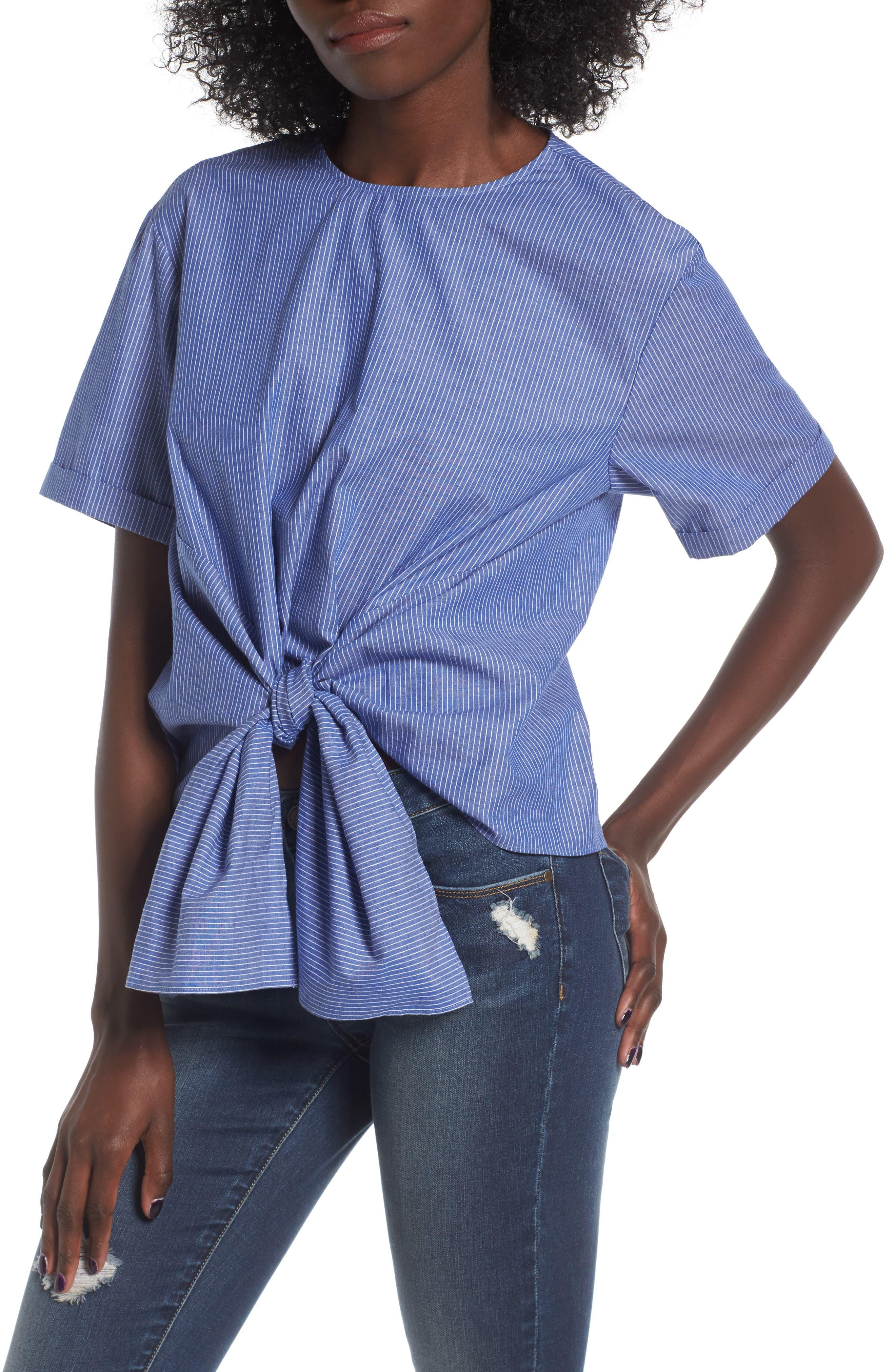 ,                             Tie Front Blouse,                             Main thumbnail 8, color,                             450