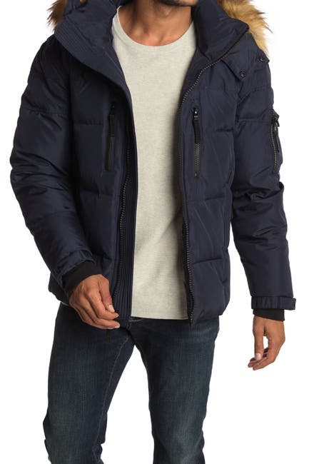 Image of S13 Telluride Faux Fur Trim Hooded Down Puffer Jacket