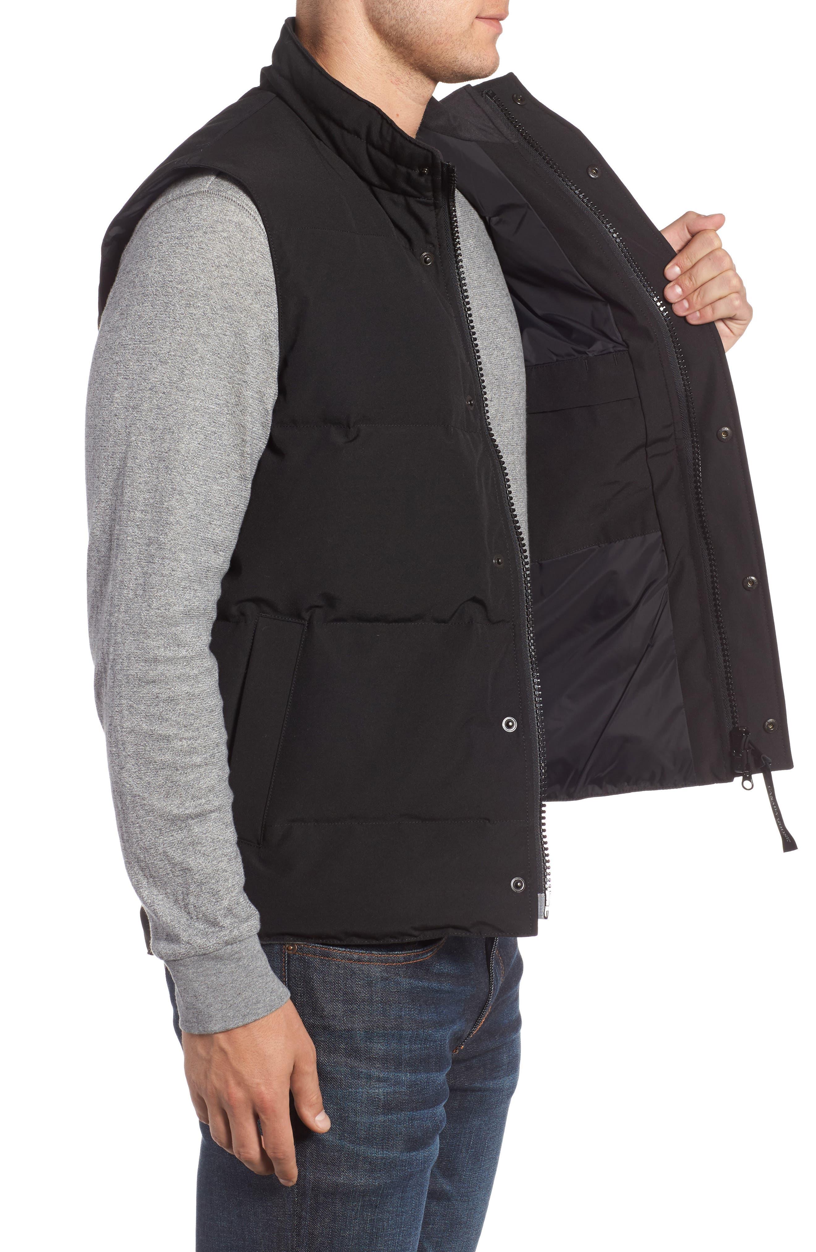 ,                             Garson Regular Fit Quilted Down Vest,                             Alternate thumbnail 4, color,                             BLACK