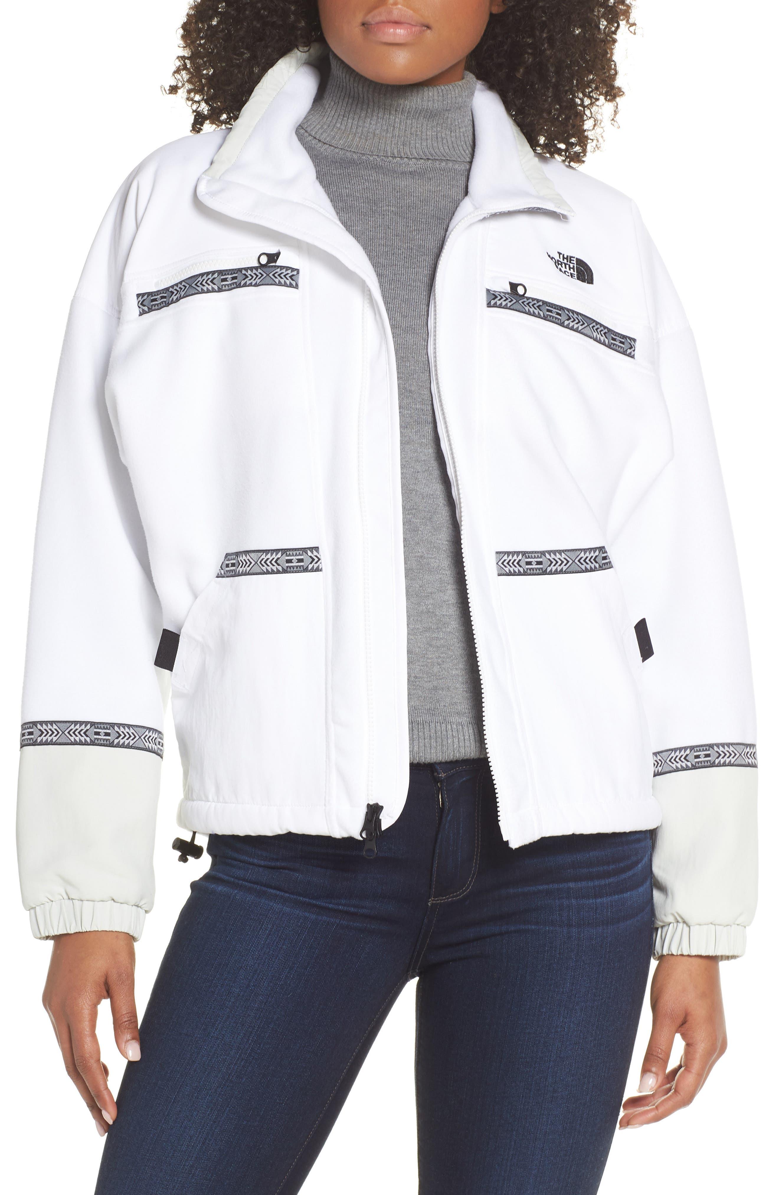 The North Face 92 Rage Fleece Full Zip Jacket, White