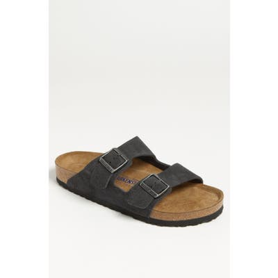 Birkenstock Arizona Soft Slide Sandal, Grey