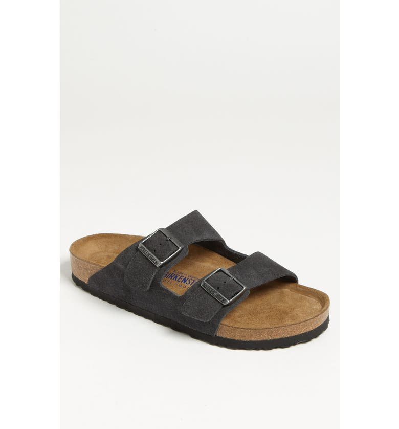 BIRKENSTOCK Arizona Soft Slide Sandal, Main, color, VELVET GRAY
