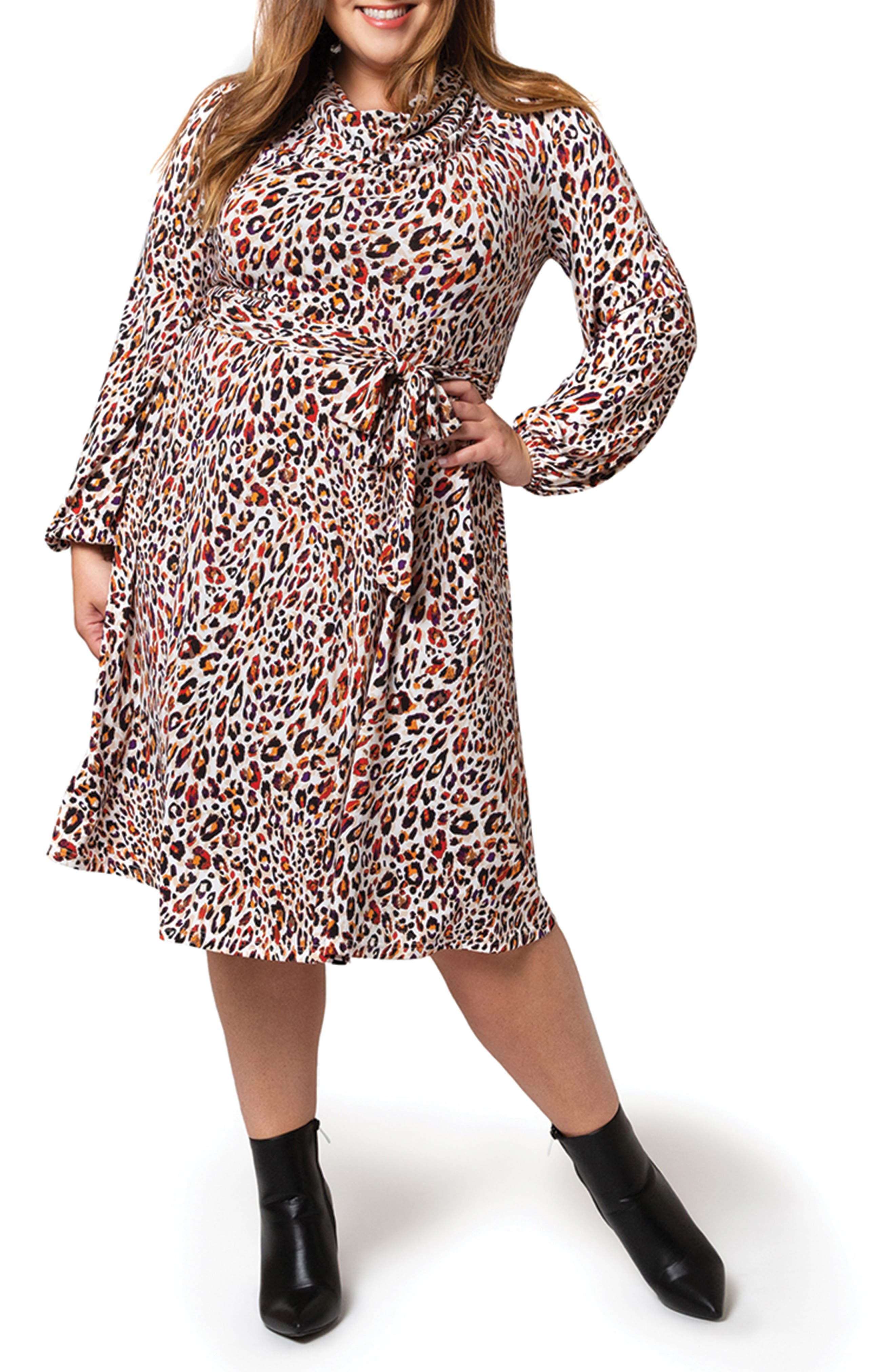 Mallory Tie Waist Long Sleeve Dress