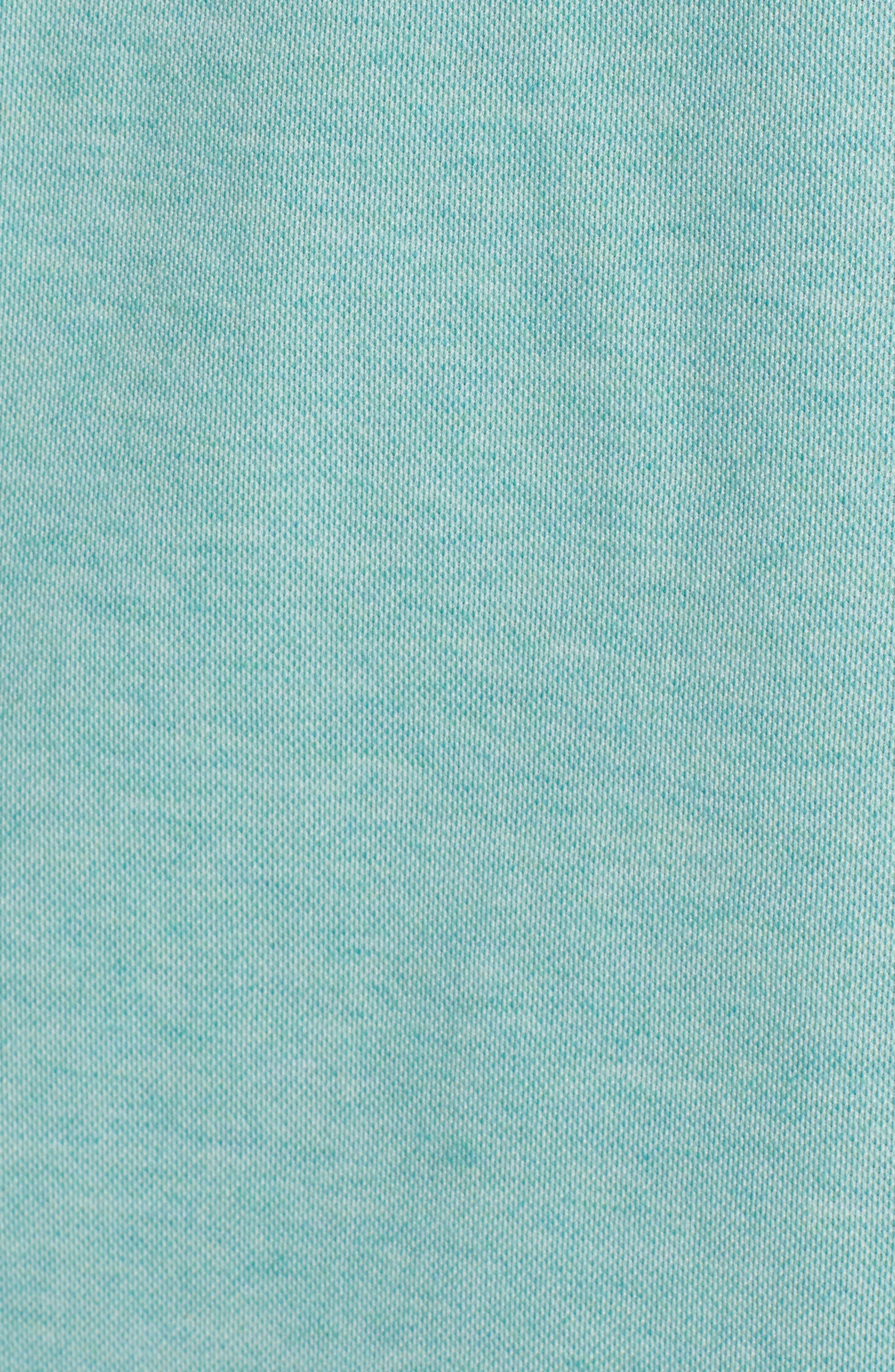 ,                             Oh Snap Regular Fit Performance Polo,                             Alternate thumbnail 5, color,                             HEATHER BERYL GREEN