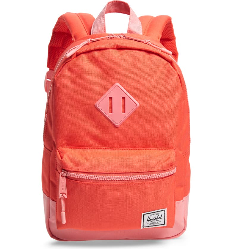 HERSCHEL SUPPLY CO. Heritage Backpack, Main, color, HOT CORAL/ FLAMINGO PINK