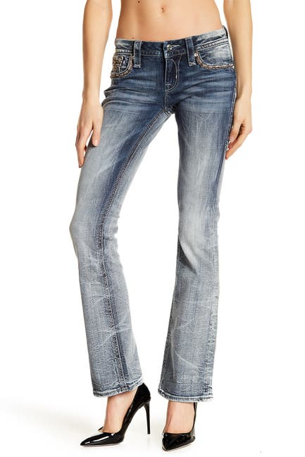 Image of Rock Revival Betty Bootcut Rhinestone Embellished Jeans
