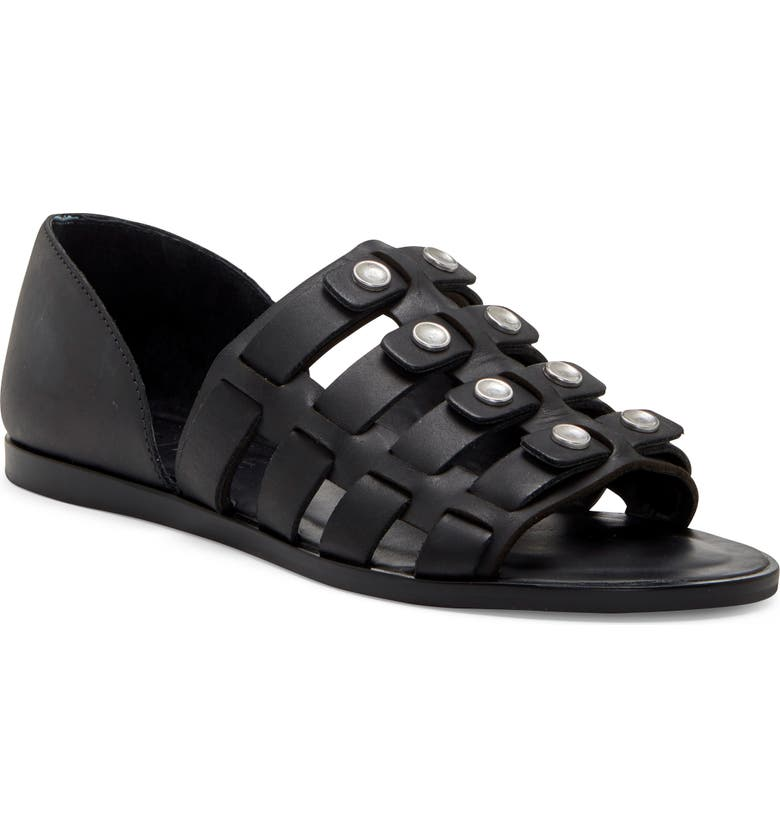 1.STATE Telle Studded Strappy Sandal, Main, color, BLACK LEATHER