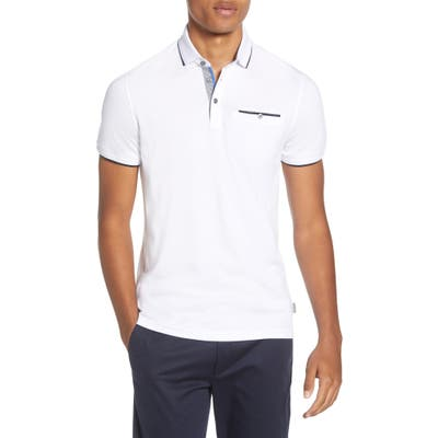 Ted Baker London Derry Slim Fit Polo, White