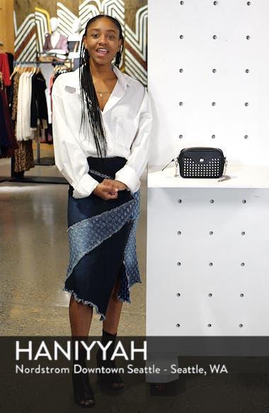 Mademoiselle Studded Leather Camera Bag, sales video thumbnail