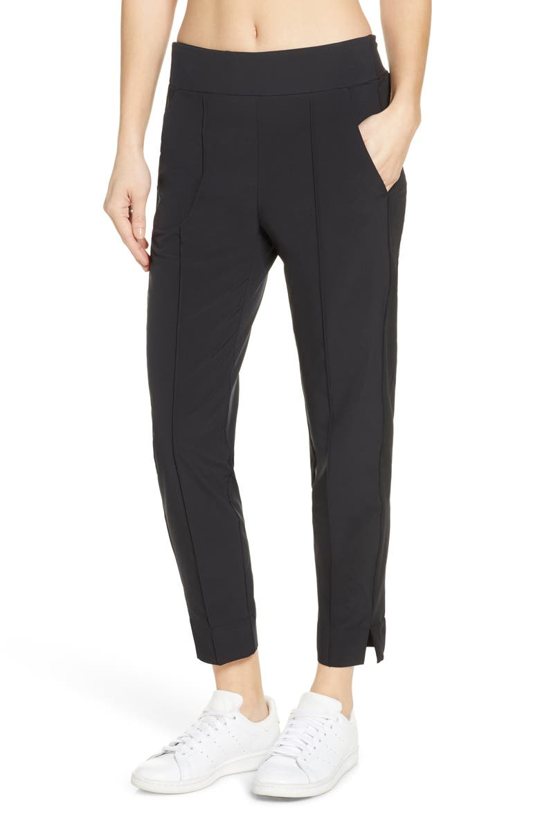 ZELLA Getaway Pants, Main, color, BLACK