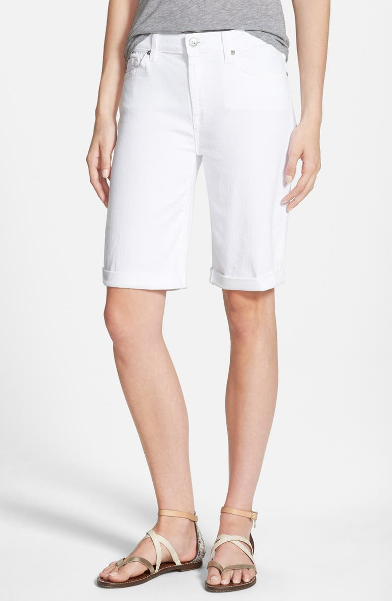 7 FOR ALL MANKIND<SUP>®</SUP> High Rise Denim Bermuda Shorts, Main, color, 100