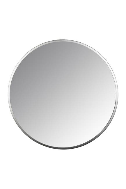 Image of Stratton Home Lily Silver Round Wall Mirror