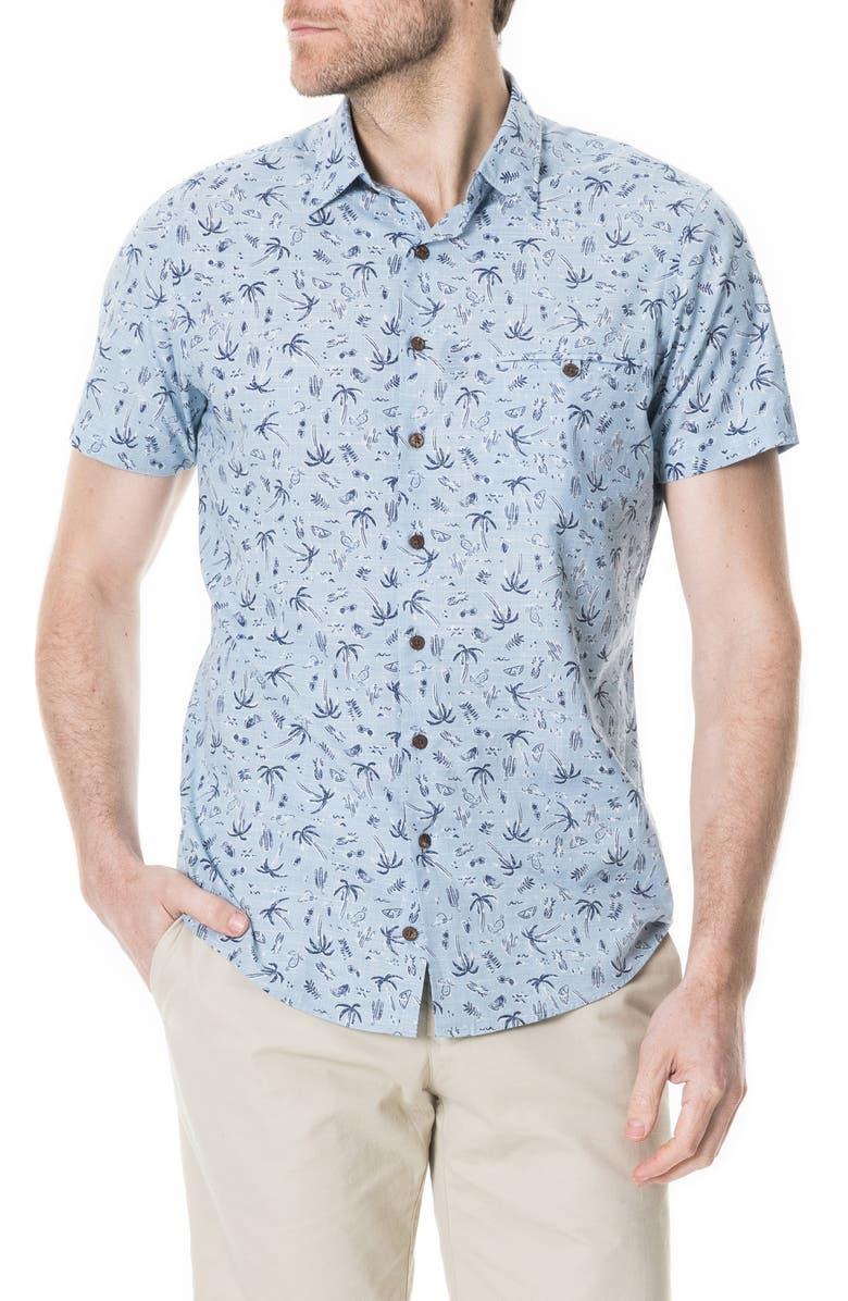 RODD & GUNN Urquharts Print Shirt, Main, color, SKY