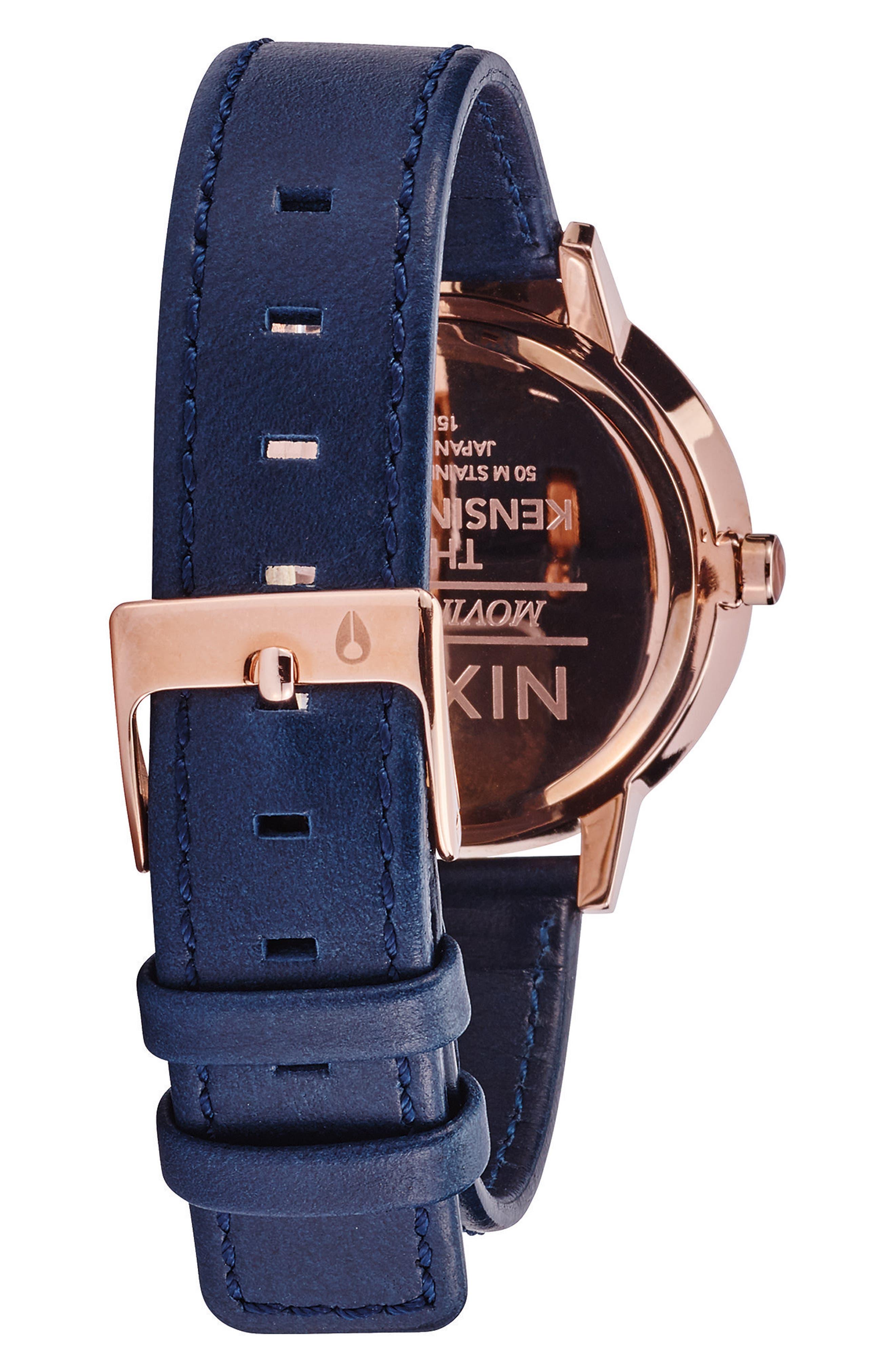 ,                             'The Kensington' Leather Strap Watch, 37mm,                             Alternate thumbnail 34, color,                             400