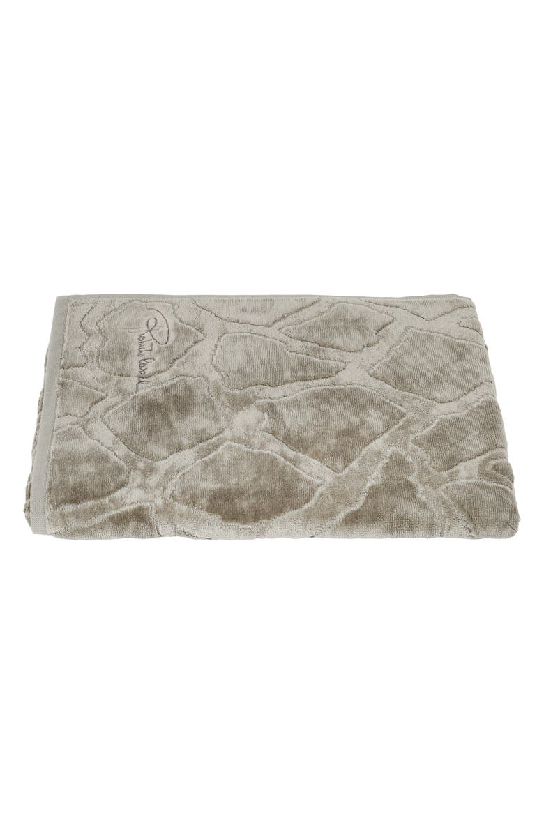 ROBERTO CAVALLI Jerapha Bath Towel, Main, color, GREY