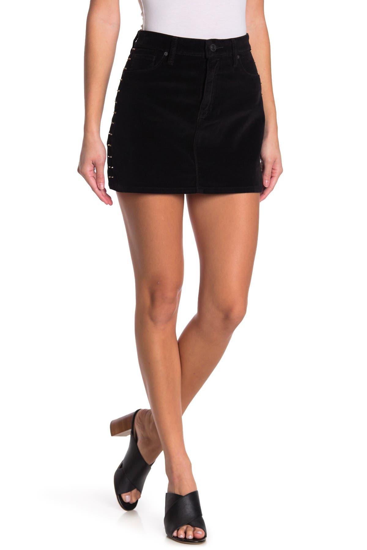 Image of HUDSON Jeans The Viper Velvet Mini Skirt