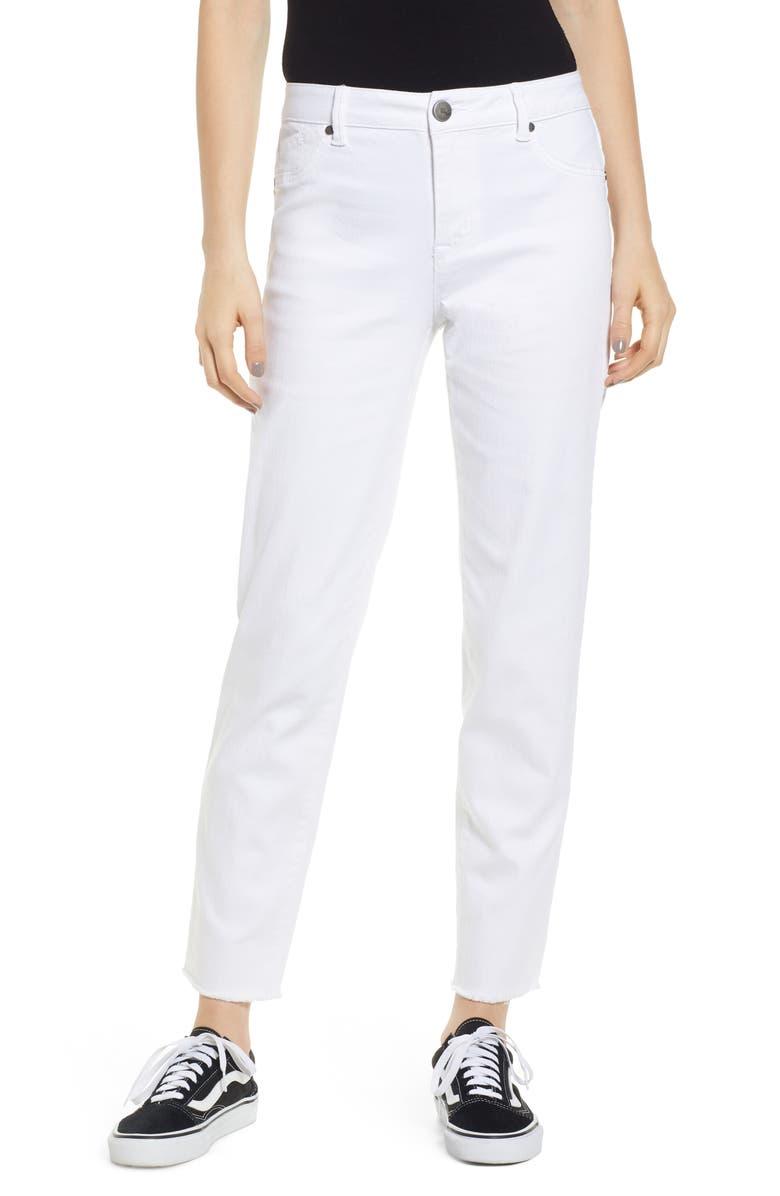 1822 DENIM Mom Jeans, Main, color, WHITE