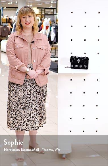 Mini Kensington Embellished Velvet Crossbody Bag, sales video thumbnail