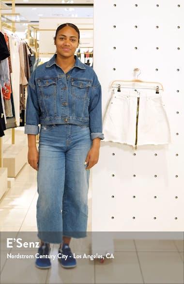 Lomo Front & Back Zip Denim Miniskirt, sales video thumbnail