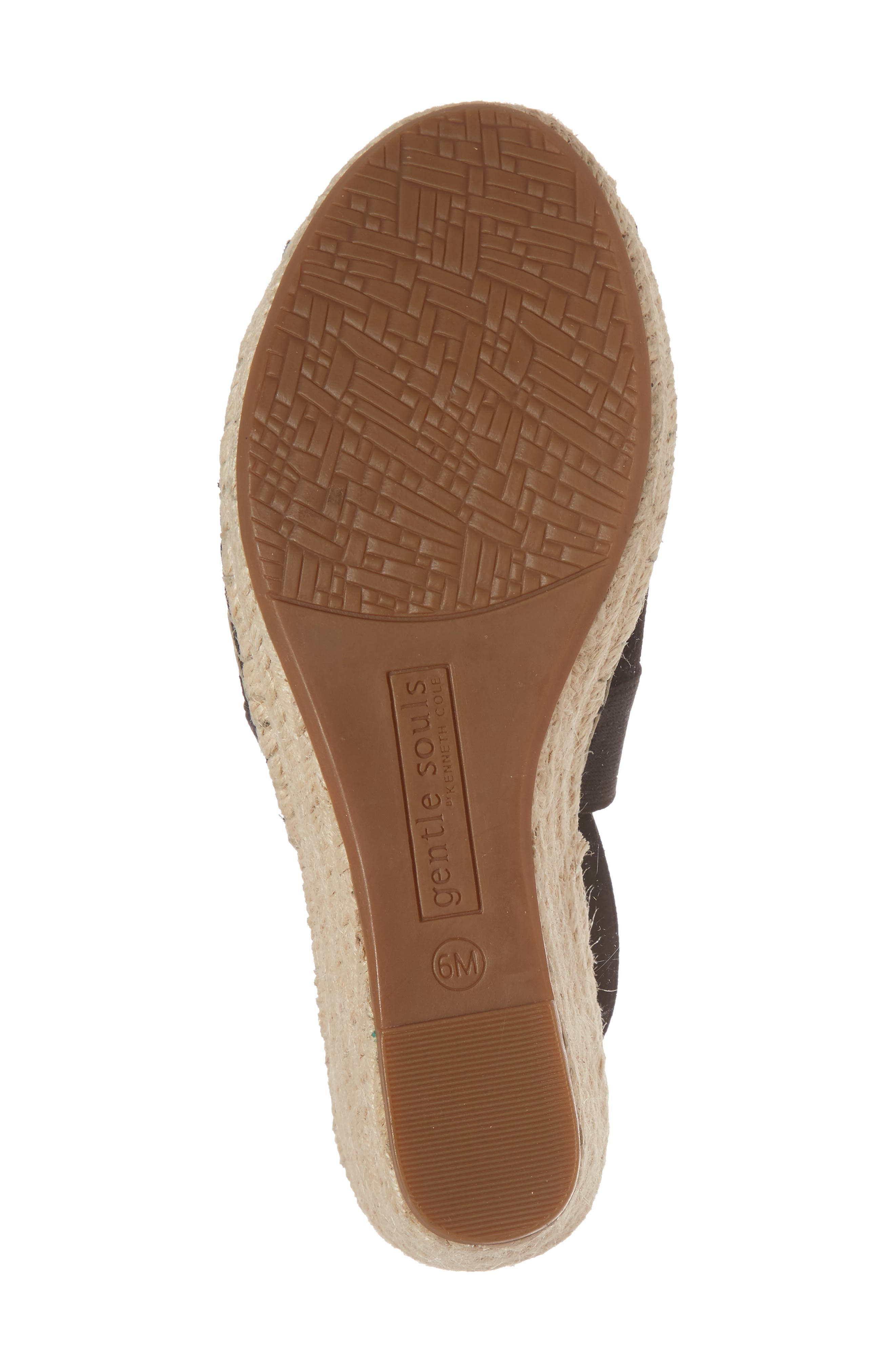 ,                             Colleen Espadrille Wedge,                             Alternate thumbnail 6, color,                             BLACK SUEDE