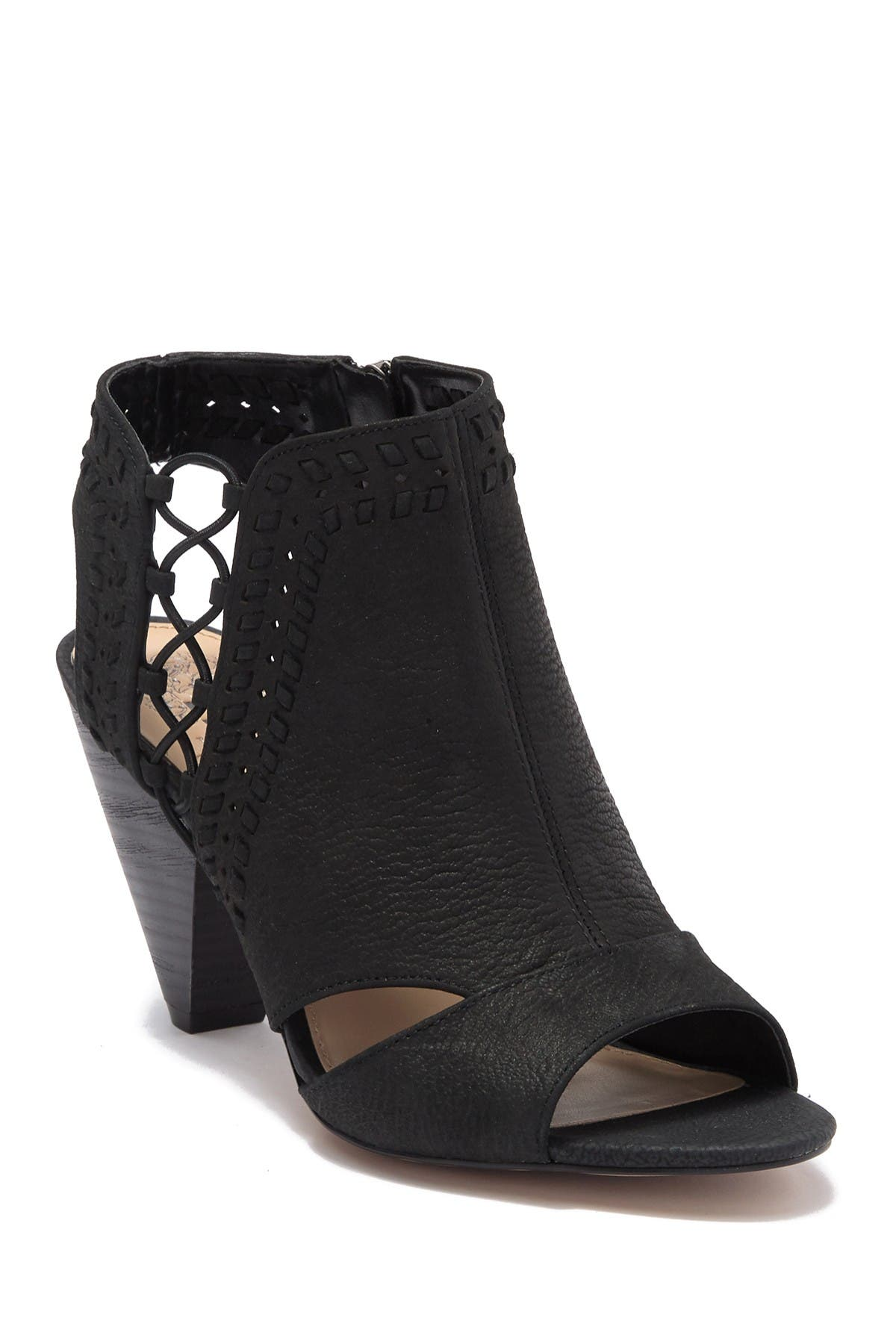 Image of Vince Camuto Emmia Woven Leather Block Heel Sandal