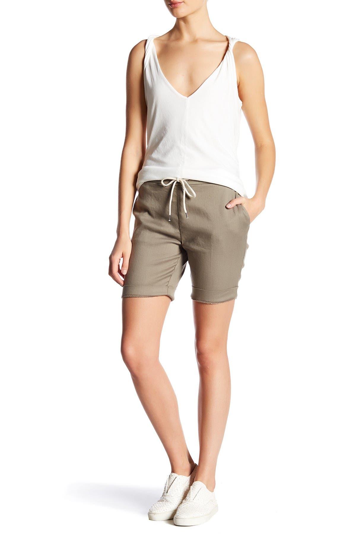 Image of James Perse Linen Blend Bermuda Shorts