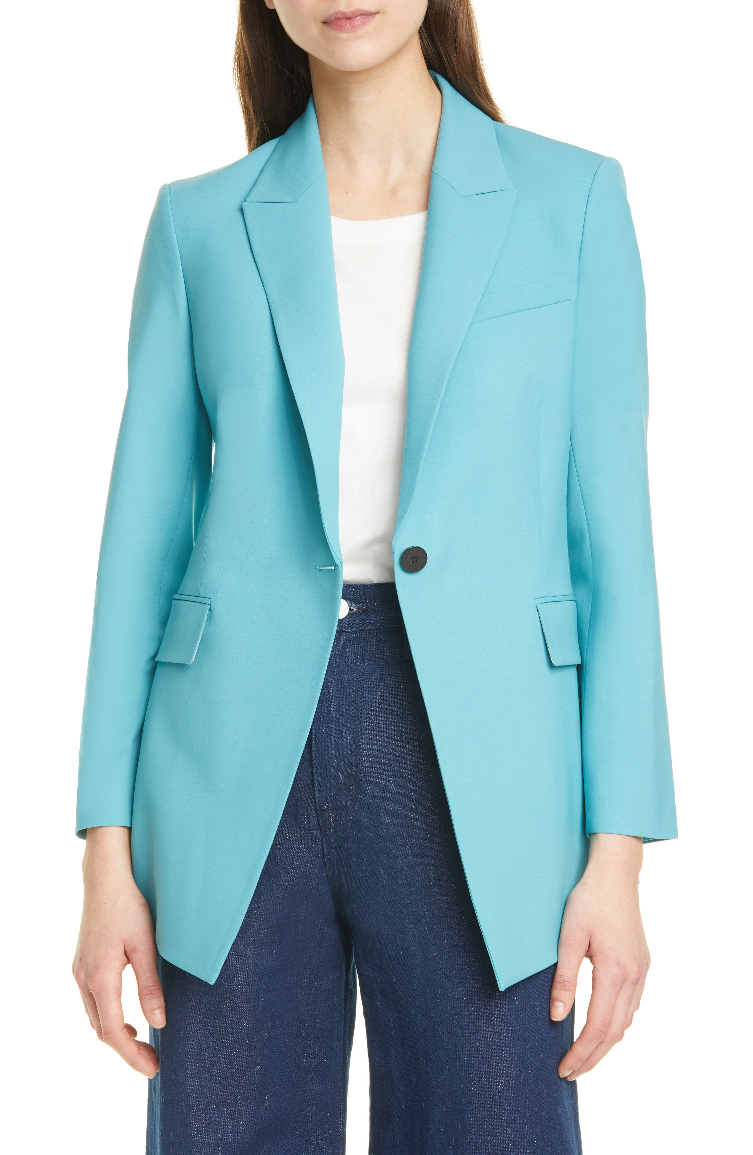 Theory Etiennette B Good Wool Suit Jacket