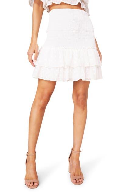Bb Dakota Mini skirts GIRL MEETS RUFFLE SMOCKED MINISKIRT
