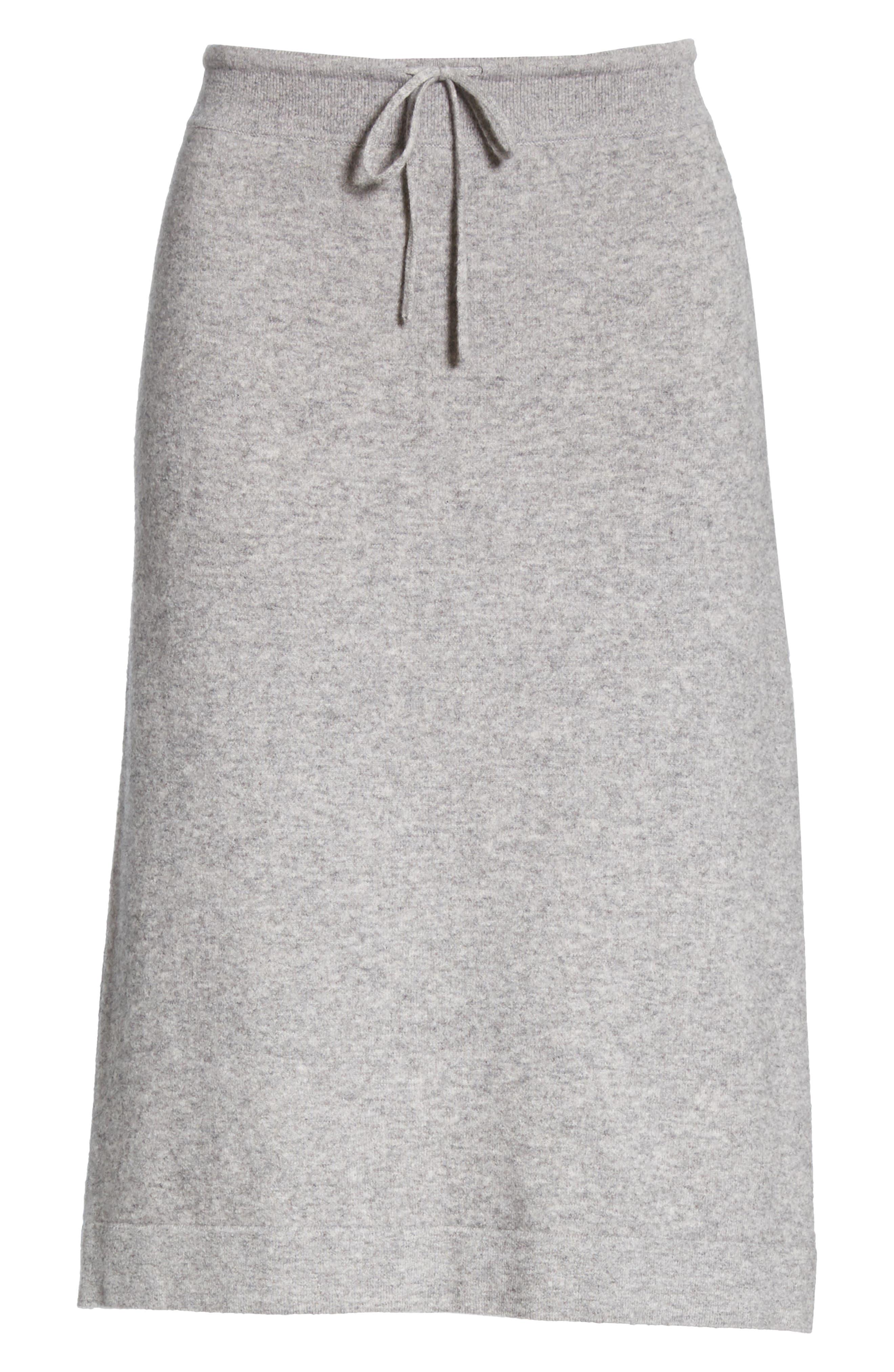 ,                             Knit Skirt,                             Alternate thumbnail 6, color,                             H STEEL