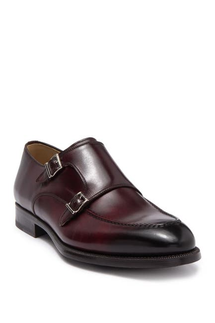 Image of Magnanni Palron Double Monk Strap Shoe - Wide Width Available