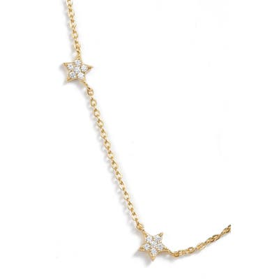 Argento Vivo Pave Star Choker Necklace