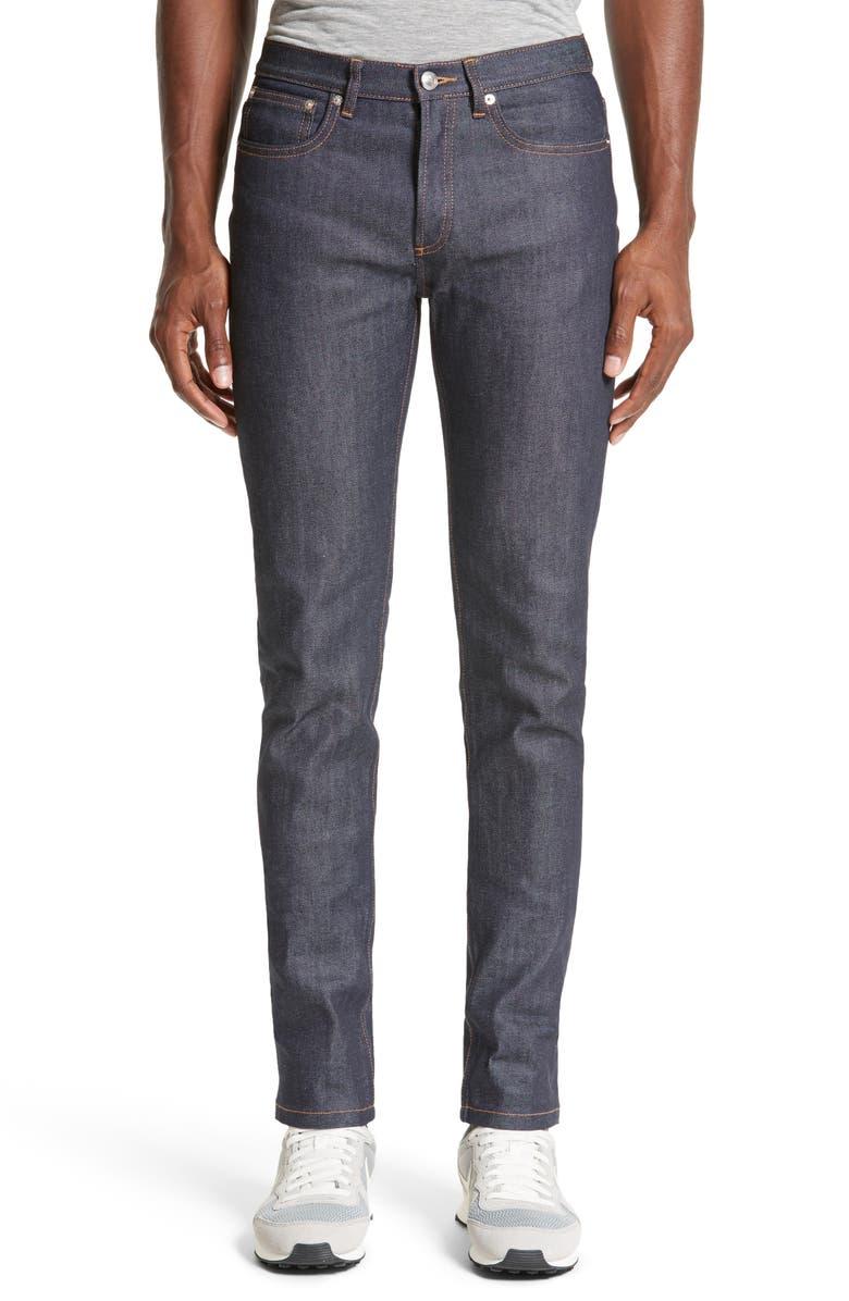 A.P.C. Petite New Standard Stretch Skinny Fit Jeans, Main, color, INDIGO