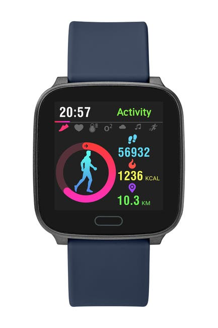 Image of TIMEX Unisex Navy iConnect Resin Strap Smartwatch, 37mm